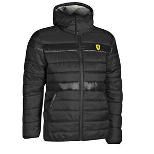 Puma Ferrari Sf мягкие молния пуховик с капюшоном Куртка мужская ... ee9e6055968