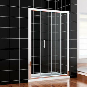 Walk-in-1000-1100-1200-1300-1400-1500mm-Sliding-Shower-Door-and-Tray-Free-waste