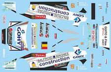 DECALS 1/43 SKODA FABIA WRC - #19 - CUNIN - RALLYE DU CONDROZ 2014 - D43416
