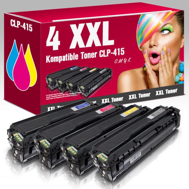 4 Toner für Samsung CLP415N CLP415NW CLX4195FN CLX4195FW CLX4195N CLT-504S
