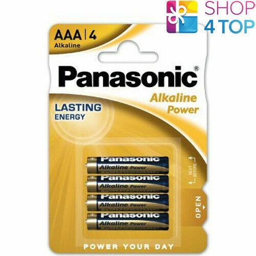 4 panasonic alkaline power aaa lr03 batteries blister 1.5v micro mn2400 e92