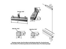 Replacement Pivot Assembly Kit for Swing Shower Doors
