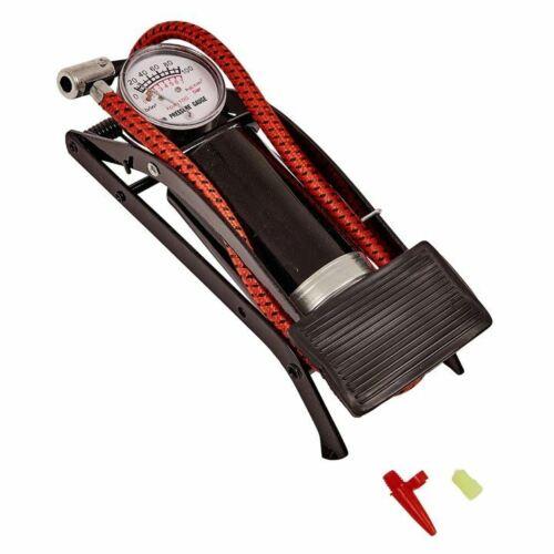 Amtech Foot Pump+Pressure Gauge Car Bike Tyre Airbeds Bicycle