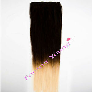 Clip in dip dye ombre remy human hair extensions natural black to image is loading clip in dip dye ombre remy human hair pmusecretfo Gallery