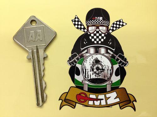 MZ CAFE RACER Green Scarf MOTORBIKE moto rad STICKER