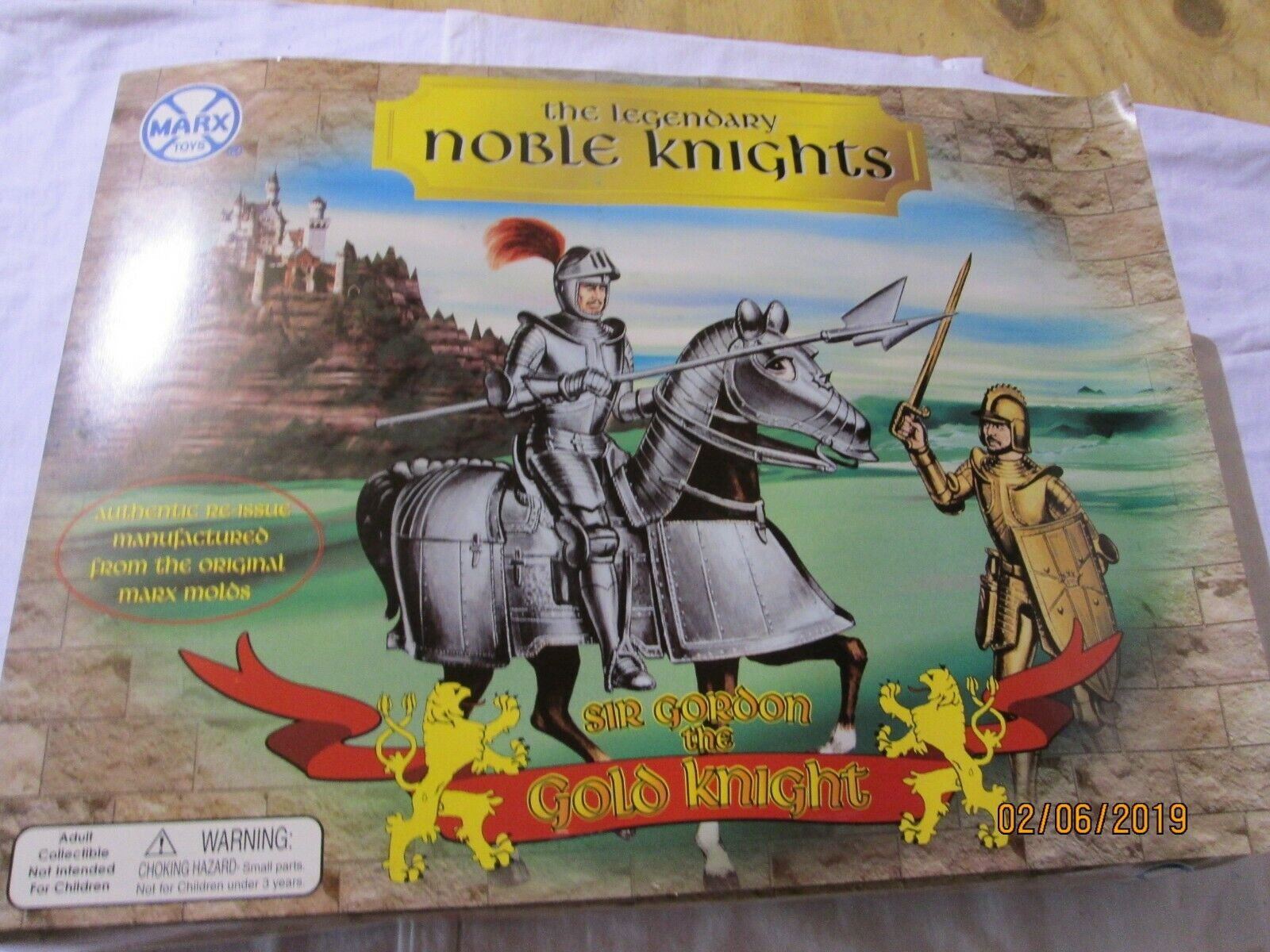 MARX REISSUE THE LEGENDARY NOBLE KNIGHTS SIR GORDON THE gold KNIGHT