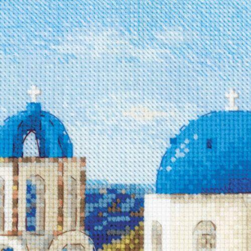 RIOLIS  1644  Santorin  Broderie  Point de croix compté