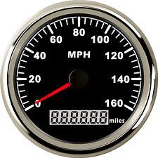85mm Black GPS Speedometer Gauge 0-160MPH for Car Truck Motorcycle ATV US STOCK