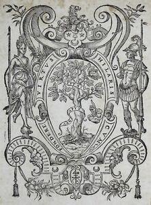 LYON-MARQUE-TYPOGRAPHIQUE-Printer-039-s-Mark-PIERRE-LANDRY-1586-Bois-grave-Woodcut