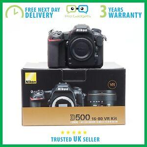 Neuf-Nikon-D500-20-9MP-Corps-Seulement-Kit-Box-Garantie-3-ans-plusieurs-langues