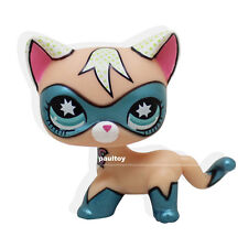 Super Rare Littlest Pet Shop COMIC CON CAT Super Hero kitten kitty Blue Eyes LPS
