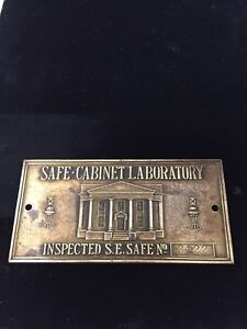 Image Is Loading SAFE CABINET LABORATORY INSPECTED S E SAFE NO 3122 Awesome Design