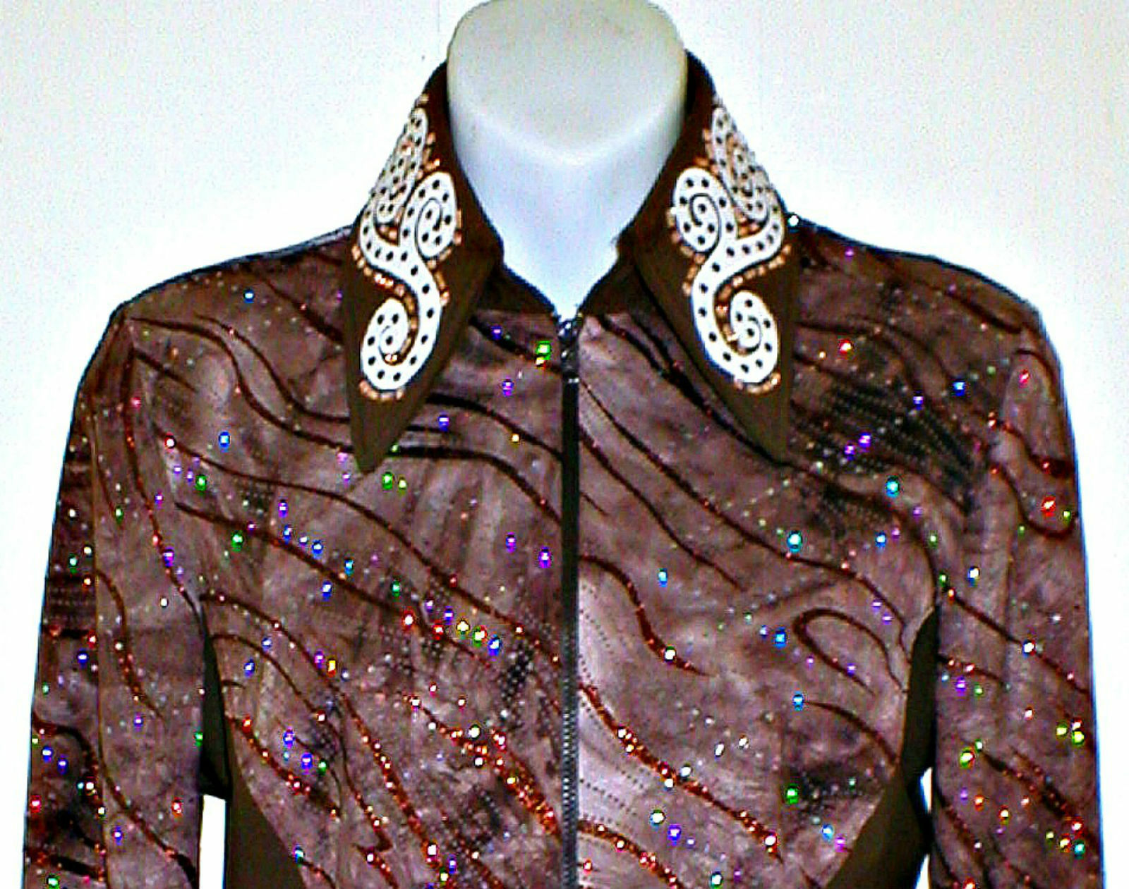 Woman's Grande Marrón carril occidental, placer, Rodeo, Trail, & Glamour Camisa