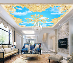 3D Heaven Pattern 45 Ceiling Wall Paper Print Wall Indoor Wall Murals CA Carly