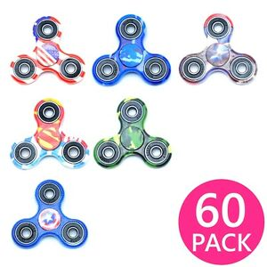60X Lot Special Design Hand Finger Spinner Tri-Spinner Fidget Toy Ceramic