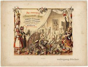 Emanzipation-8-Farblithos-L-Burger-Das-emancipirte-Amazonen-Heer-um-1850