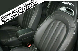 Bracciolo-Filocar-Fiat-500-ABARTH-595-695-Armrest-Racing-style-Nero