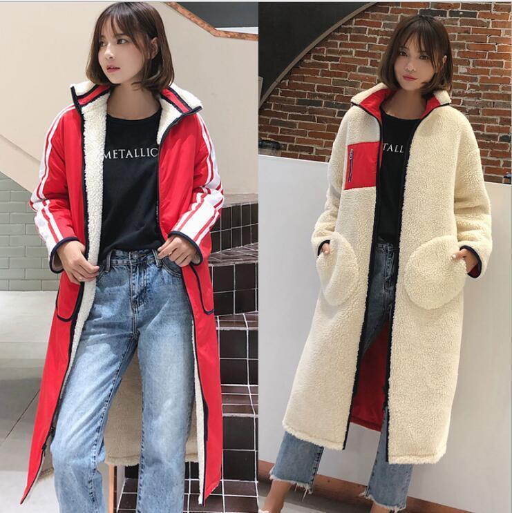 2018-19 Luxury Womens Teddy Bear Feel Faux fur Coat 2 Sides Wear  Long Parka New