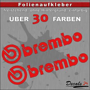 2er-SET-BREMBO-Sponsoren-Folienaufkleber-Auto-Motorrad-30-Farben-15cm