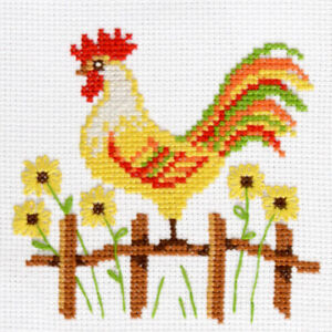 Rooster-Counted-Cross-Stitch-Kit-For-Beginners-Easy-Pattern-DIY-Embroidery-Set