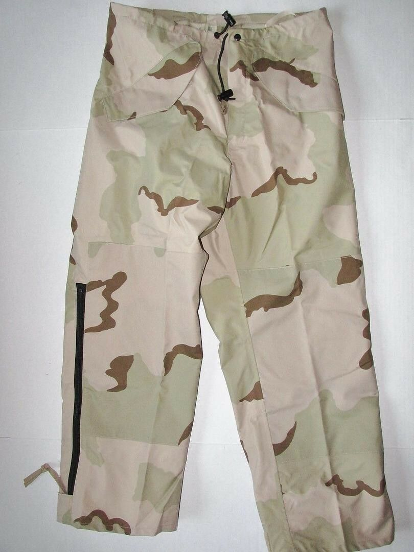 Genuine US  Military Issue ECWCS Gore-tex Waterproof Pants, 3 color Desert Camo  save 60% discount