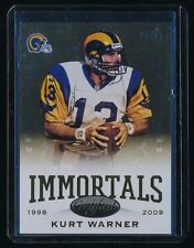 KURT WARNER 2014 CERTIFIED CAMO GOLD #191 IMM 01/25 *ST. LOUIS RAMS*