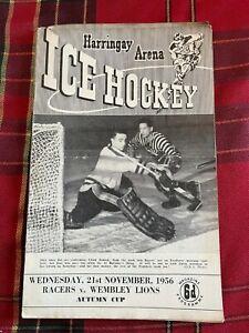 Harringay Arena Ice Hockey Programme 23/11/1956