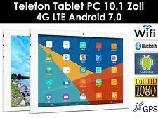 64GB 10.1 Zoll Telefon Tablet PC Android 7.0 Dual SIM/Kamera GPS LTE,4G,WIFI,HD
