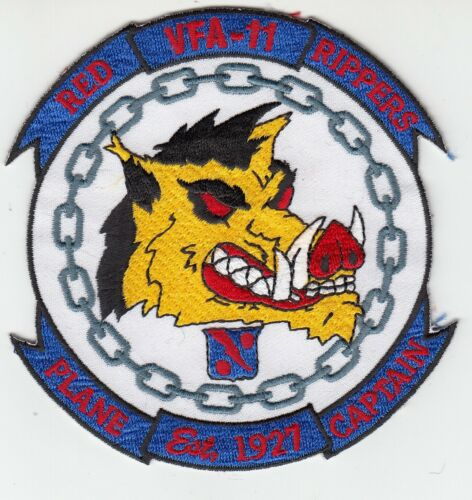 VFA-11 RED RIPPERS PLANE CAPTAIN PATCH