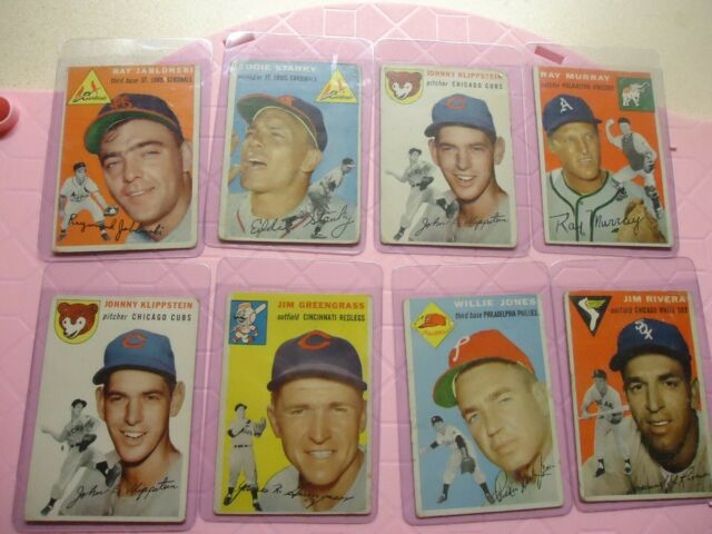 1954 TOPPS LOT BASEBALL CARDS