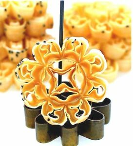 Dok Jok Brass Kitchenware Mold Lotus Flower Thai Cookies Traditional