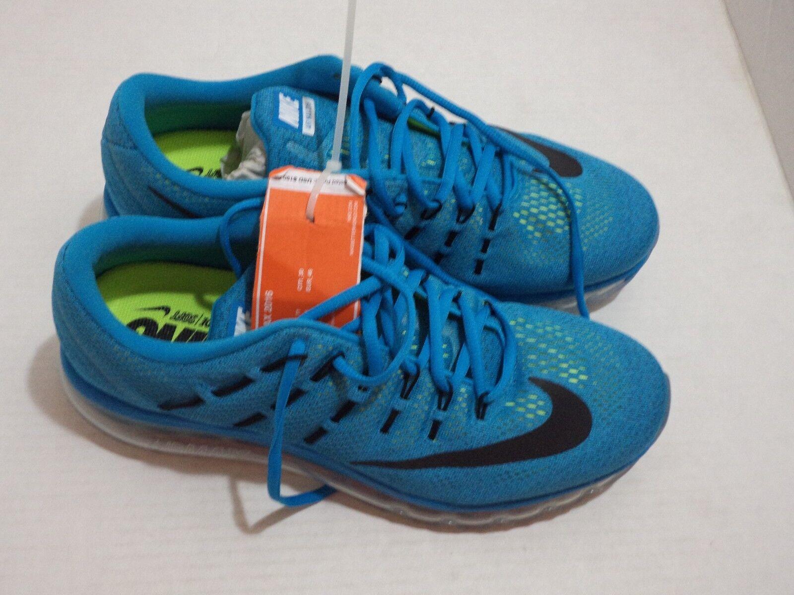Nike Air Max 2015 Men Running shoes Size 11.5-12 color Black Brig,Volt-bluee Aqua