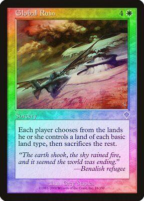 Global Ruin FOIL Invasion NM-M White Rare MAGIC THE GATHERING MTG CARD ABUGames