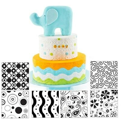 Home & Garden Bright 6pcs/set Texture Mat Modern Fondant Cake Mold Cupcake Sugarcraft Baking Tools To Have Both The Quality Of Tenacity And Hardness Other Baking Accessories