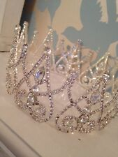 Silver Crown . Fairy Queen Crown. Stage Prop. Wedding Crown. Pageant ��