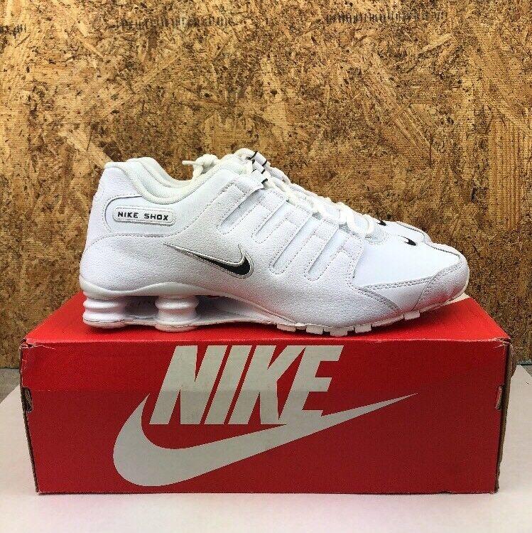 Nike shox nz ue dimensioni delle scarpe bianco nero di pelle.
