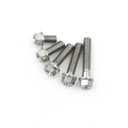 M6*10 15 20 25 30 Titanium Socket Flange Bolt Cap Screw ATAU