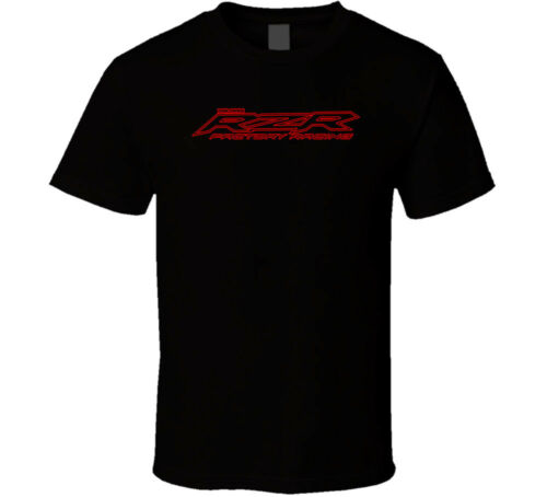 Polaris RZR Racing Short Sleeve shirt black white tshirt men/'s free shipping