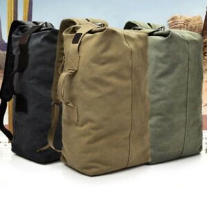 a6451b5c4c Large Men s Canvas Backpack Shoulder Bag Sports Travel Duffle Bag ...