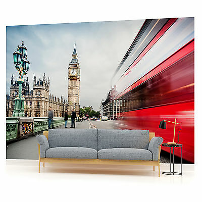 London Big Ben Bus City Urban WALL MURAL PHOTO WALLPAPER W1112VE VE