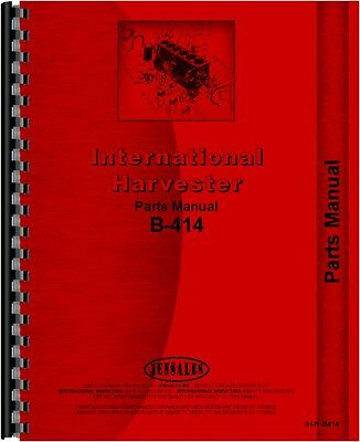 International Harvester B414 Parts Manual Catalog