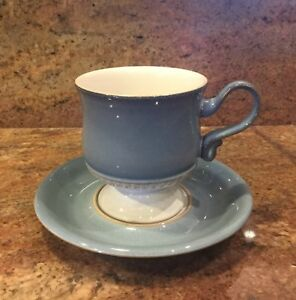 Denby CASTILE Coffee Cup and Saucer Excellent