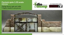 DioDump DD024 Factory gate 1:35 scale. Resin diorama vignette wall and gate