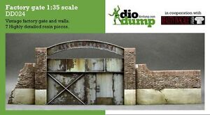 DioDump-DD024-Factory-gate-1-35-scale-Resin-diorama-vignette-wall-and-gate