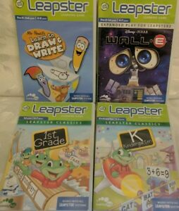 Leapster-2-Lot-of-4-Games-Wall-E-Learn-to-Draw-Write-Learning-Game-Leap-Frog