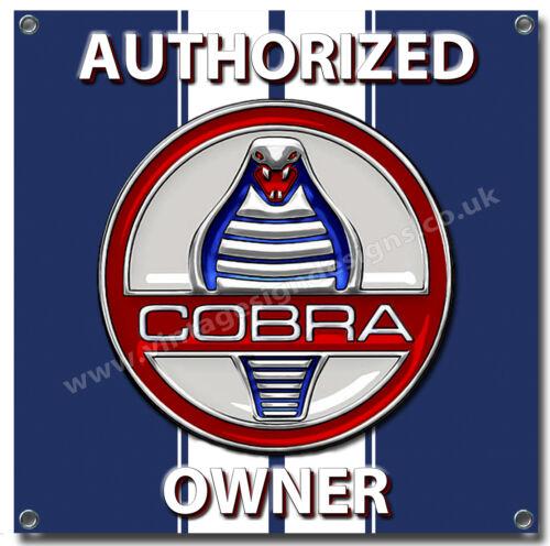 "AC COBRA OWNER WATER PROOF 550GSM GRADE PVC GARAGE BANNER 28/"" X 28/"""