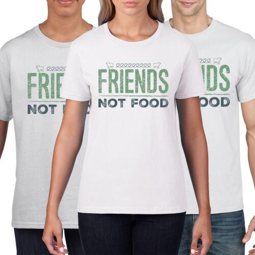Vegano Camiseta amigos no alimentos gracioso Camiseta Top para Mujer Geek Vegano para hombre vegy 872