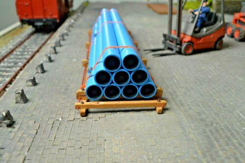 """Lagergerüst /""""  Spur 1 Ladegut Nr.140//70 /"""" blaue Rohre"""