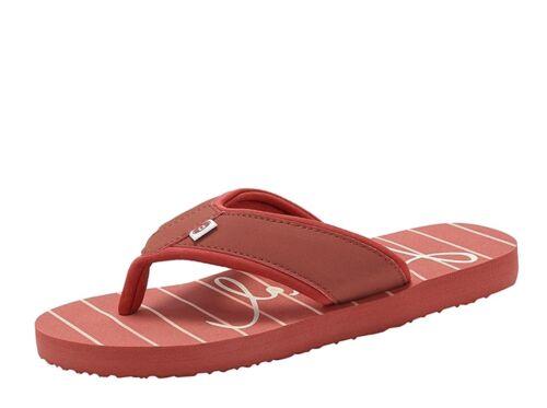 NEW Animal Swish Beach stripes red women/'s flip flops flat sandals sizes 4-8
