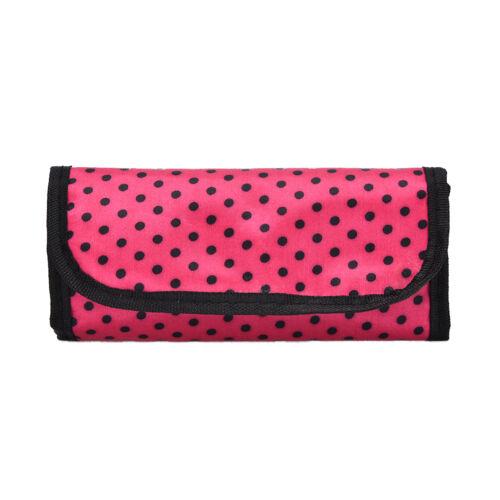 Cute Dots Crochet Hook Pouch Crochet Needle Case Cover Holder Organizer Bag RDR